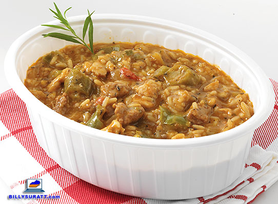 Kroger Wholesome @ Home Cajun Style White Meat Chicken And Chorizo Gumbo. (Photo by Carla Nalley/Kroger)